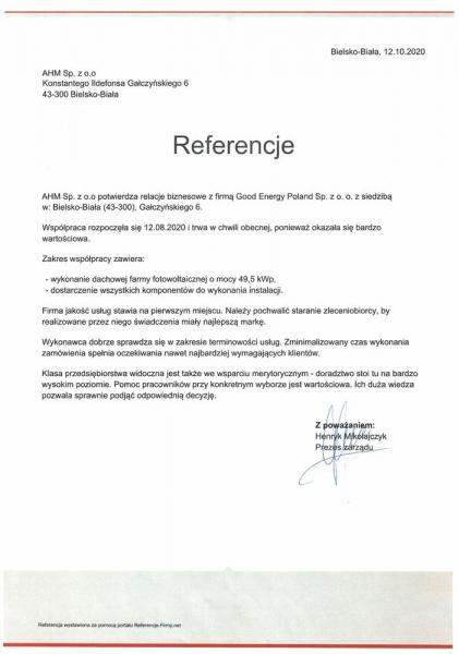 referencje ahm